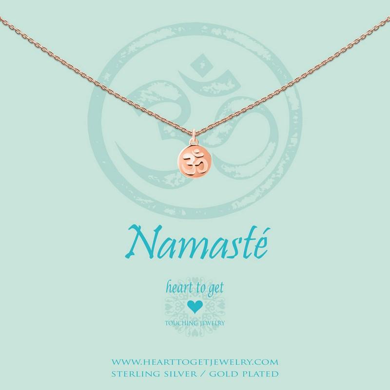 Halskette Münzen Anhänger Ohm Namasté Heart To Get Schmuck