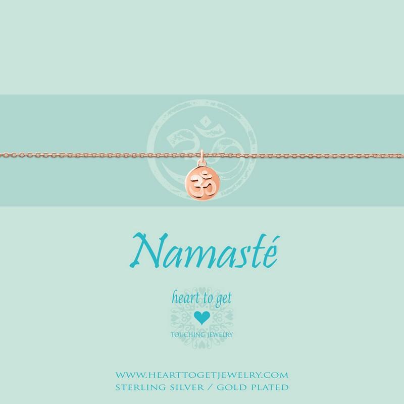 Armband Münzen Anhänger Ohm Namasté Heart To Get Schmuck